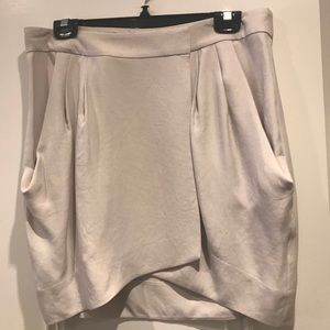 DVF wrap skirt, iridescent cream colour size 12